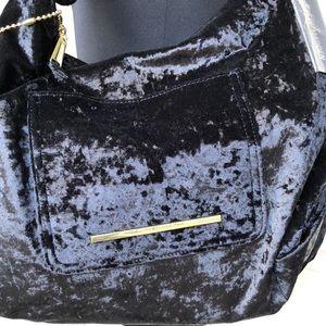 Steve Madden Black Suede Soft Handbag